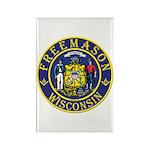 Wisconsin Masons Rectangle Magnet