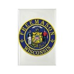 Wisconsin Masons Rectangle Magnet (10 pack)