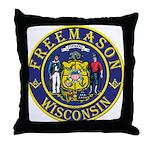 Wisconsin Masons Throw Pillow