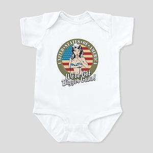 Patriotic Pinup Girl Infant Bodysuit
