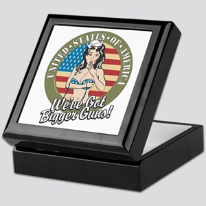Patriotic Pinup Girl Keepsake Box