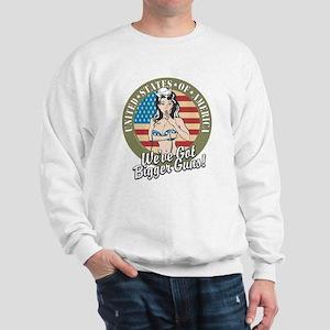 Patriotic Pinup Girl Sweatshirt