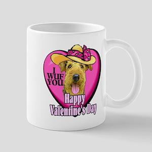 Airedale Terrier Valentines Mug