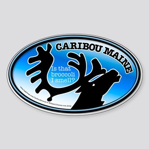 Caribou Broccoli Oval Sticker