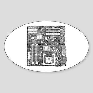 COMPUTER BOARD Oval Sticker