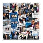 Historic Inauguration Headlines Tile Coaster