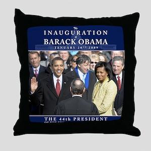 Obama Inauguration Photo Throw Pillow