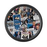 Historic Inauguration Memorab Large Wall Clock
