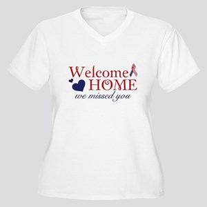 Welcome Home we missed you Women's Plus Size V-Nec