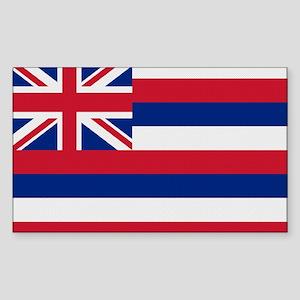 Beloved Hawaii Flag Modern St Rectangle Sticker