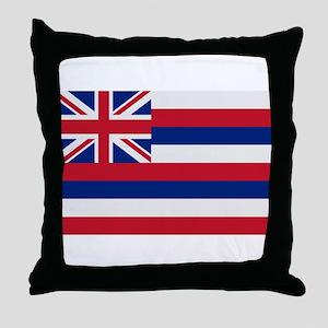 Beloved Hawaii Flag Modern St Throw Pillow