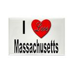 I Love Massachusetts Rectangle Magnet (10 pack)