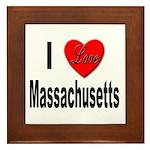 I Love Massachusetts Framed Tile