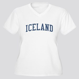 Iceland Blue Women's Plus Size V-Neck T-Shirt