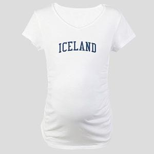 Iceland Blue Maternity T-Shirt