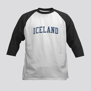 Iceland Blue Kids Baseball Jersey