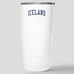 Iceland Blue Stainless Steel Travel Mug