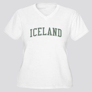 Iceland Green Women's Plus Size V-Neck T-Shirt