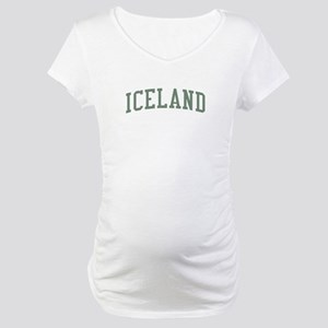 Iceland Green Maternity T-Shirt