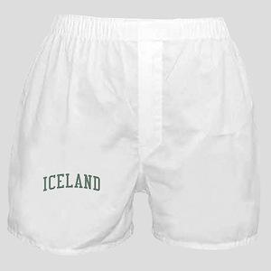 Iceland Green Boxer Shorts