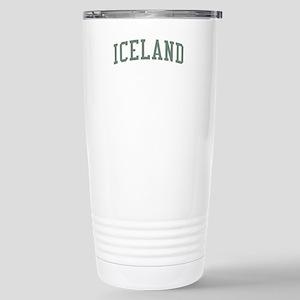 Iceland Green Stainless Steel Travel Mug