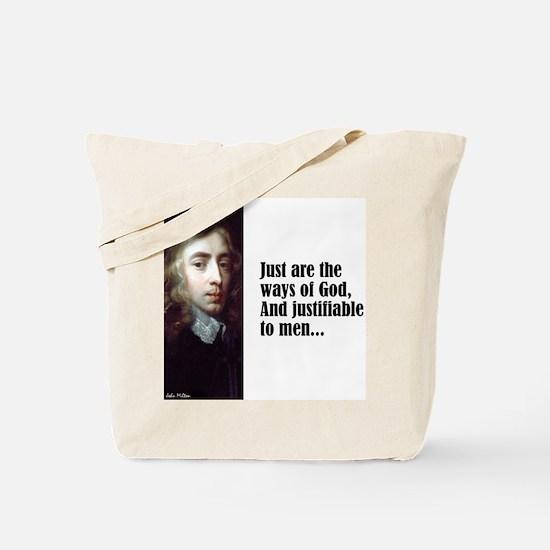 """Milton """"Ways of God"""" Tote Bag"""