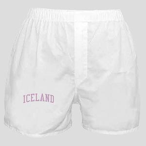 Iceland Pink Boxer Shorts