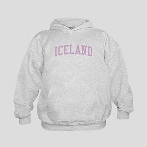 Iceland Pink Kids Hoodie
