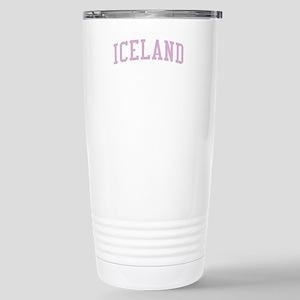 Iceland Pink Stainless Steel Travel Mug