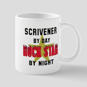 Scrivener By Day, Rock Star By n 11 oz Ceramic Mug