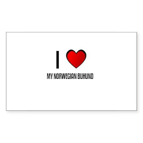 I LOVE MY NORWEGIAN BUHUND Rectangle Sticker
