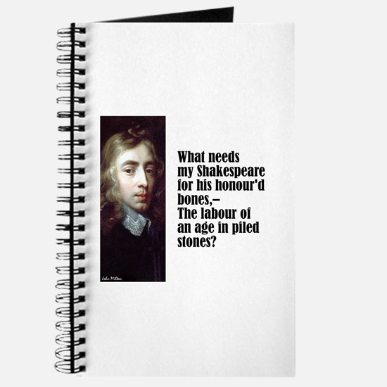"Milton ""My Shakespeare"" Journal"