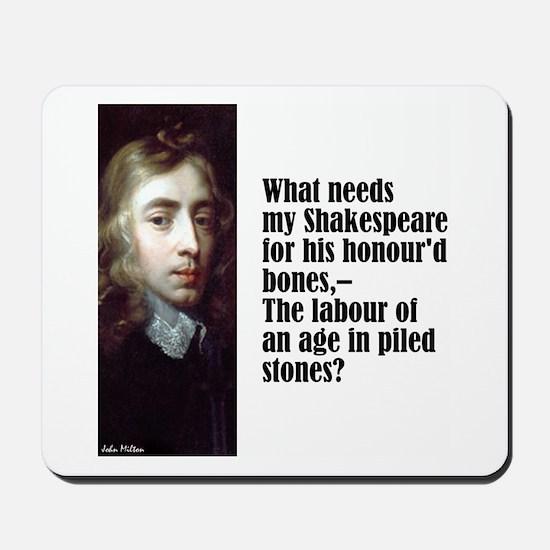 """Milton """"My Shakespeare"""" Mousepad"""