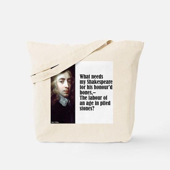 "Milton ""My Shakespeare"" Tote Bag"