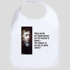"""Milton """"My Shakespeare"""" Bib"""