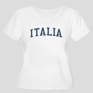 Italy Blue Women's Plus Size Scoop Neck T-Shirt