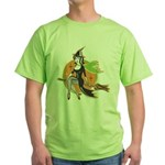Vintage Halloween Witch Green T-Shirt