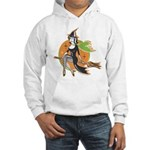 Vintage Halloween Witch Hooded Sweatshirt