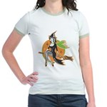 Vintage Halloween Witch Jr. Ringer T-Shirt