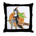 Vintage Halloween Witch Throw Pillow