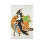 Vintage Halloween Witch Rectangle Magnet (10 pack)