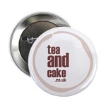 "tea and cake 2.25"" button/badge"