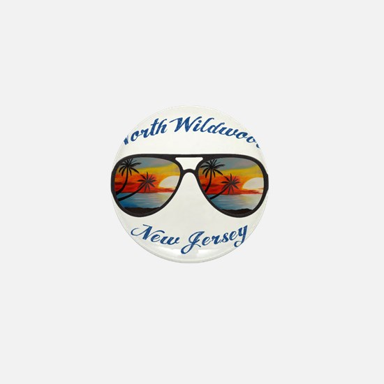 New Jersey - North Wildwood Mini Button
