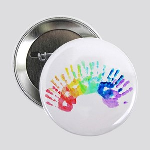"Rainbow Hands 2.25"" Button"