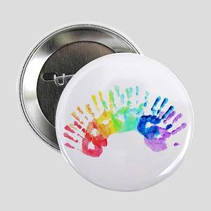 "Rainbow Hands 2.25"" Button"