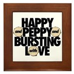 HAPPY AND PEPPY - Framed Tile