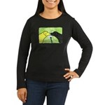 Labs Like to Share Women's Lg Sleeve Dark T-Shirt