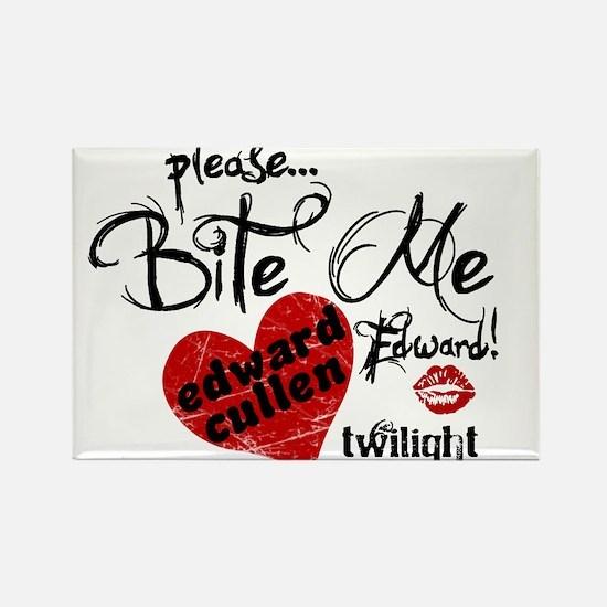Bite Me Edward Cullen Rectangle Magnet