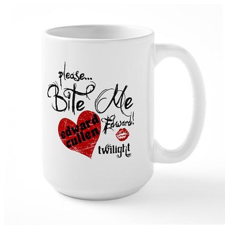 Bite Me Edward Cullen Large Mug