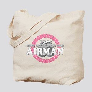 This Girls Loves Her Airman Tote Bag